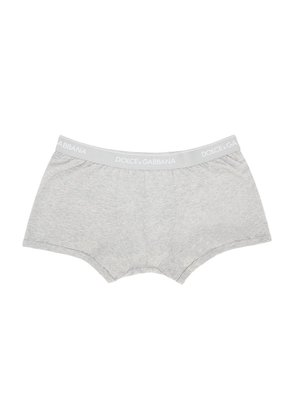 Dolce And Gabbana Grey Boxer Briefs Two-pack