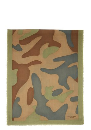 Burberry Prorsum Green Camouflage Scarf
