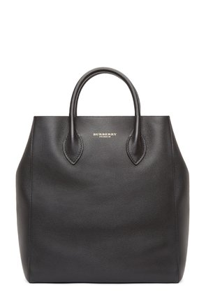 Burberry Prorsum Black Leather Carry-all Tote