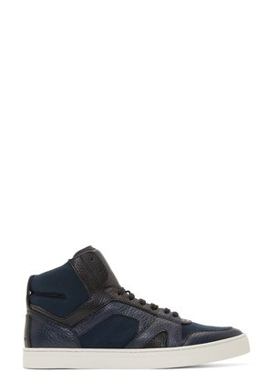 Burberry Prorsum Navy Wheatfield High-top Sneakers