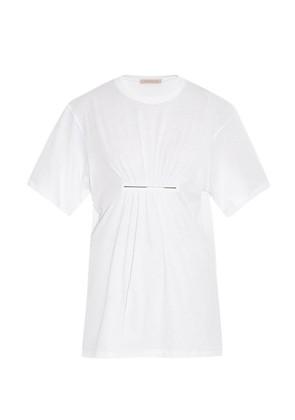 Metal-bar jersey T-shirt