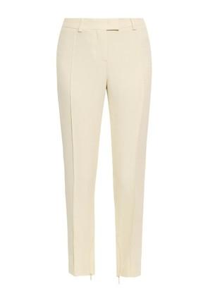 Skinny-leg cropped crepe trousers