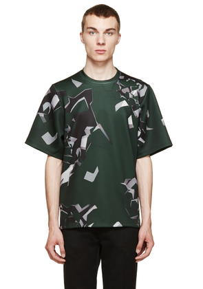 Christopher Kane Green Oversized Wallbreak T-shirt