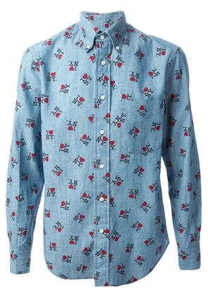 Gitman Bros I Love NY print shirt