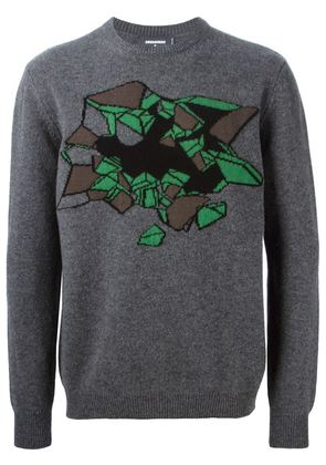 CHRISTOPHER KANE trompe-l' il intarsia sweater