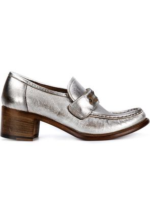 SILVANO SASSETTI chunky heel metallic loafers