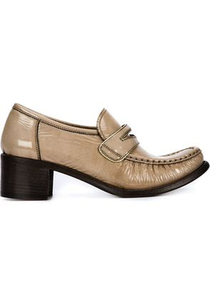 Silvano Sassetti chunky heel penny loafers