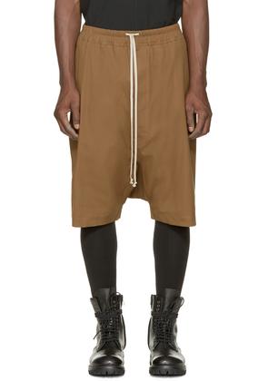 Rick Owens Mustard Canvas Pod Shorts
