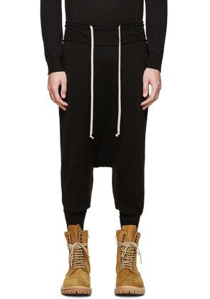 Rick Owens Black Wool Knit Pod Shorts