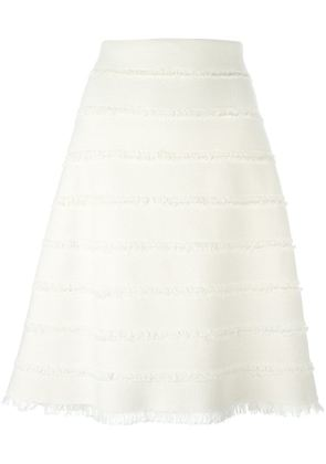 Burberry Prorsum frayed edge A-line skirt