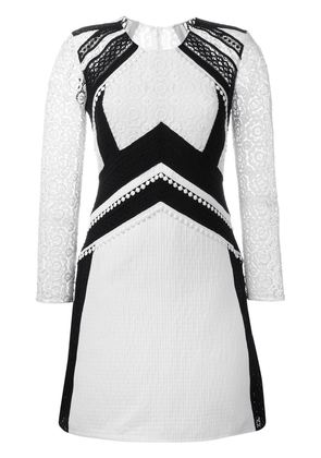Burberry Prorsum embroidered lace panel dress