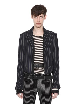 HAIDER ACKERMANN - STRIPED COTTON VISCOSE JACKET