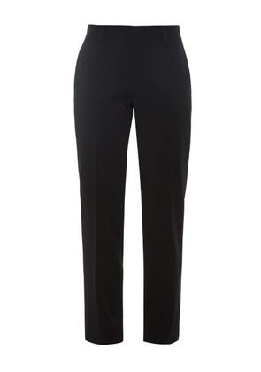 Straight-leg crepe trousers