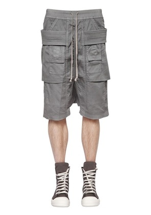 RICK OWENS - DRKSHDW RIBBED STRETCH COTTON CARGO