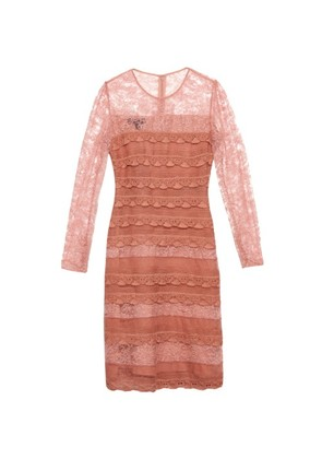 Tiered French-lace dress