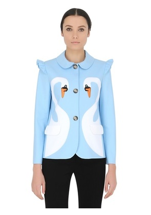 VIVETTA - ASTRID EMBROIDERED STRETCH COTTON JACKET