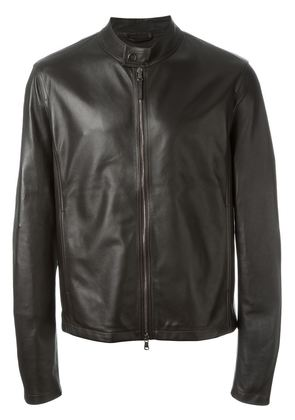 Eleventy band collar zipped jacket
