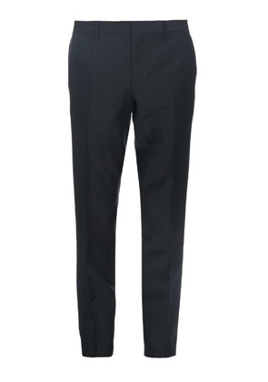 Straight-leg mohair and wool-blend trousers