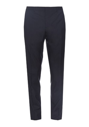 Straight-leg wool and silk-blend trousers