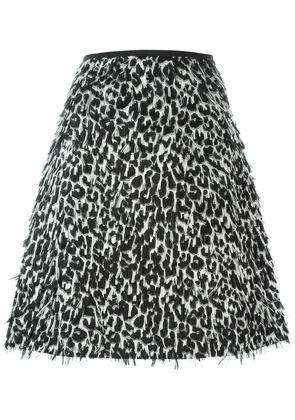 Burberry Prorsum frayed A-line skirt