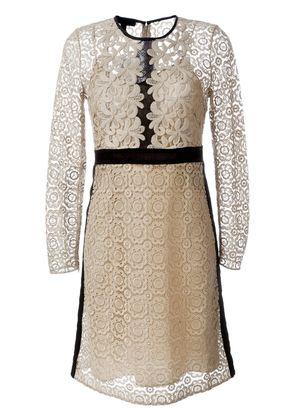 Burberry Prorsum floral lace A-line dress