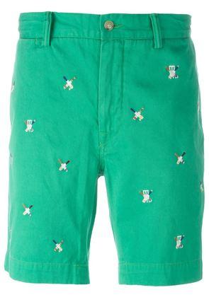 Polo Ralph Lauren embroidered cricket bat shorts