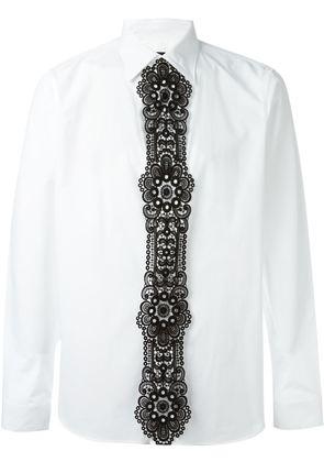 Burberry Prorsum lace panel shirt