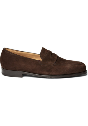 Lopez Suede Penny Loafers Brown
