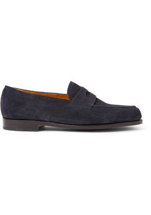 Lopez Suede Penny Loafers Blue