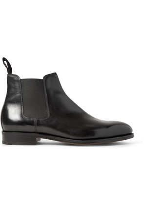 Lawry Polished-Leather Chelsea Boots Black