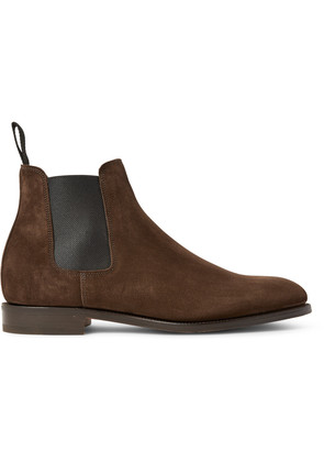 Lawry Suede Chelsea Boots Brown