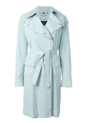 Belstaff leather trench coat