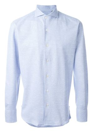 Canali melange button down shirt