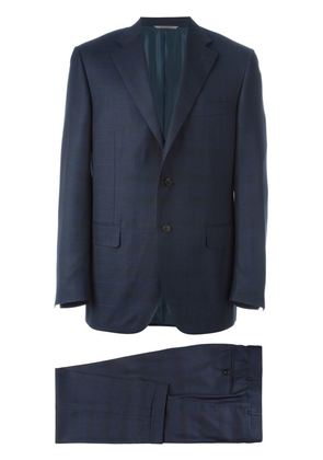 Canali checked pattern suit