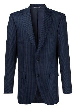 Canali plaid notched lapel blazer