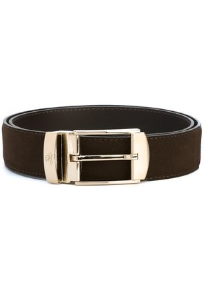 Canali gold-tone buckle reversible belt