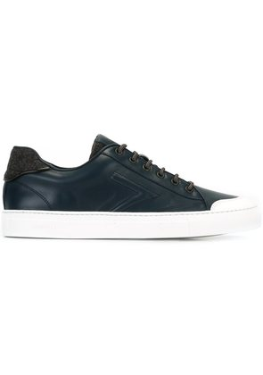 Canali embossed low sneakers