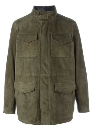 Canali patch pockets jacket