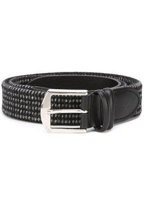 Canali silver-tone buckle elastic belt