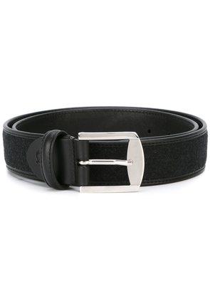 Canali silver-tone buckle belt