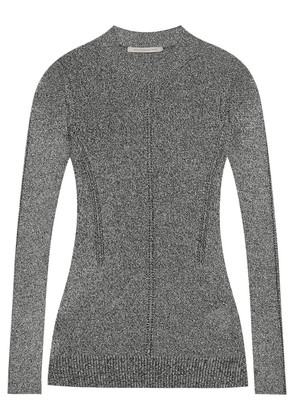 Metallic pointelle-knit sweater, Christopher Kane, Women's, Size: L