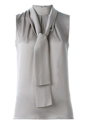 Eleventy tie neck blouse