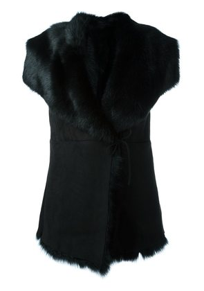 Eleventy wrapped sleeveless jacket