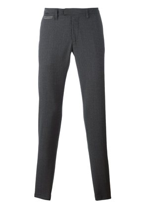 Eleventy checked straight trousers
