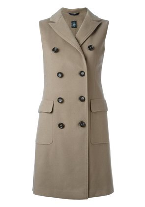 Eleventy double-breasted sleeveless coat