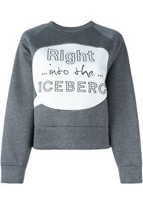 Iceberg cropped sweatshirt