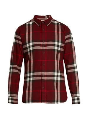 House check cotton-flannel shirt