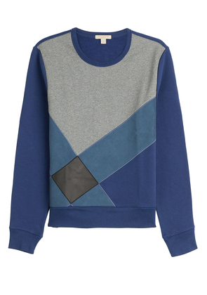 Burberry Brit Cotton Sweatshirt with Leather - blue