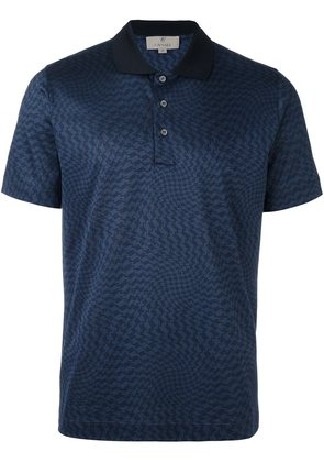 Canali twisted houndstooth polo shirt