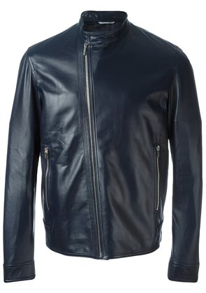 Dior Homme zipped leather jacket